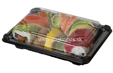 BIO Sushi box s viečkom 130 x 180 mm, 100ks