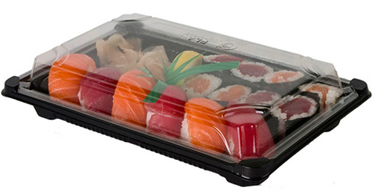 BIO Sushi box s viečkom 150 x 230 mm, 100ks