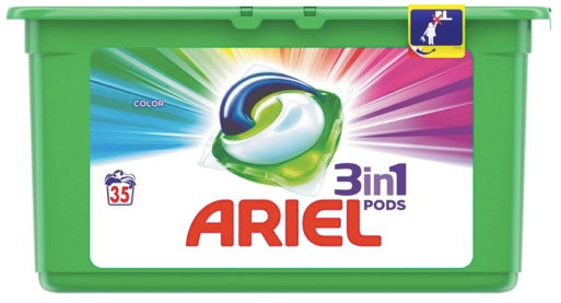 Ariel Color 3in1 pracie kapsuly 3x35ks, 1 bal. 105ks