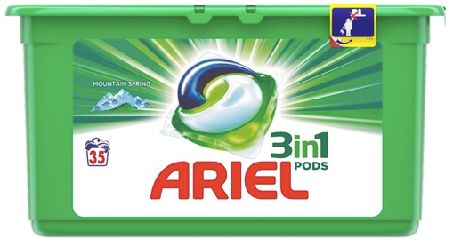 Ariel 3in1 Mountain Spring kapsule 3x35, 1 ks